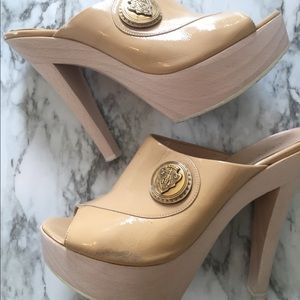Authentic Gucci Patent Leather Mules
